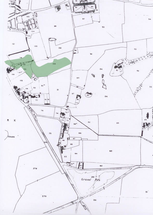 History of Westcombe Woodlands - 1843 Map